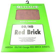 METCALFE CARD KIT OO M0054 RED BRICK BUILDERS SHEETS MET0054