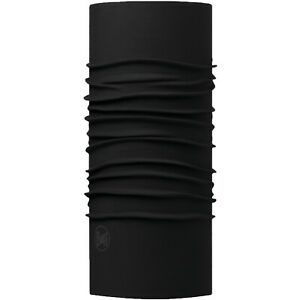 Buff Unisex Solid Original Protective Outdoor Tubular Bandana Scarf - Black