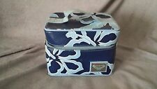 Roxy Blue Hibiscus Cosmetic Travel Case size Small VGUCsb