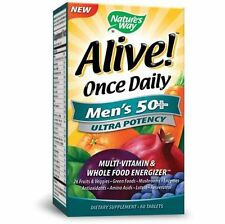 Alive Once Daily Mens 50+ Ultra Potency Nature's Way 60 Tabs