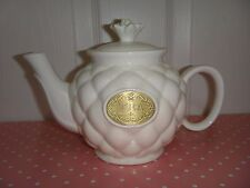 THL Porcelain Tea Pot White Gold Tone Plaque 6 inches (H) x 8.75 inches (W) ~NEW