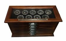 Wooden Glass Topped 5 Drawer Box for the Last Four Decades of the Florin Set