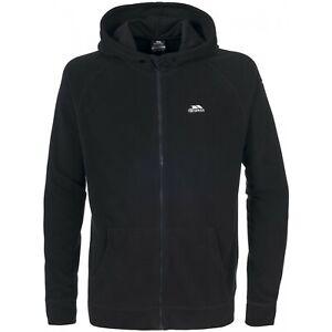 Trespass Leadville Microfleece Black Full Zip Hooded Fleece Jacket XXS XS £15