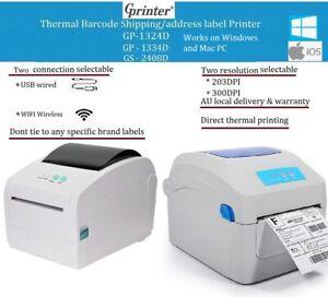 GPrinter Wifi wireless Barcode shipping address Thermal Label Printer 4x6