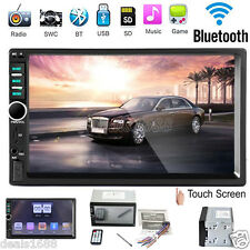 "7"" Bluetooth Car Stereo Audio In-Dash Media Receiver Aux TF/SD/USB MP5 TV Video"