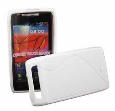 Rubber Case Wave für Motorola Razr MAXX in weiß Silikon Skin Hülle Bag weiss