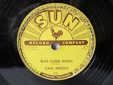 78rpm CARL PERKINS - BLUE SUEDE SHOES - SUN 234