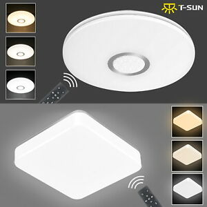 24W Bright Round LED Ceiling Down Light Panel Wall Kitchen Bathroom Room Lamp UK