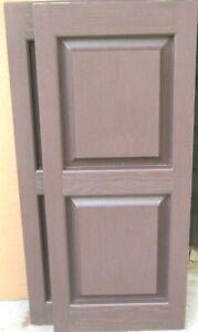Vantage Pair of Raised Panel Vinyl Exterior Shutters BROWN 15 x 35L  New