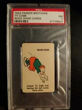 TY COBB 1924 PARKER BROTHERS ROOK GAME CARDS TIGERS PSA 7 RARE
