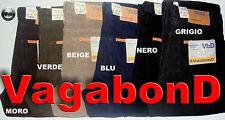Pantalone velluto 1000/r Leggero Vagabond /carrera 5 tasche dalla 46 alla 62 Beige 46