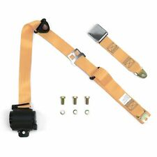 3Pt Peach Retractable Seat Belt Airplane Buckle - Each