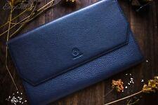 Wancher Japan Genuine Leather Handmade Fountain Pen Case 13 Pens Blue Brand New
