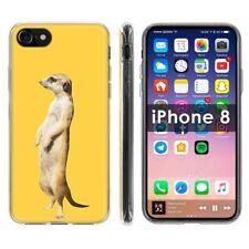 Thin Gel Phone Case Apple iPhone8,8s,7,7s,Realistic meerkat Animal Jungle Print