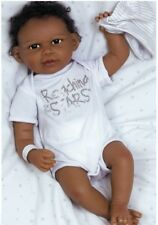 African American Doll Newborn Baby Boy Reborn Bundles Lifelike Soft Black Brown
