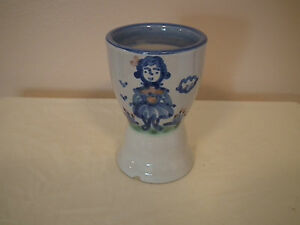 """M. A. Hadley Pottery """"Farmers Wife"""" Egg Cup"""