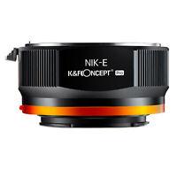 K&F Concept Adapter Pro for Nikon AI AIS F Lens to Sony E Mount Camera a7R2 A73