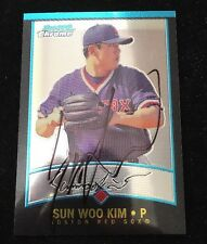SUN WOO KIM 2001 BOWMAN CHROME AUTOGRAPHED SIGNED AUTO BASEBALL CARD 227 RED SOX