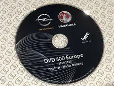 VAUXHALL OPEL DVD800 MY2009 & MY2010 2019-2020 SAT NAV MAP UPDATE DISC DVD