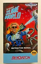 Slime World - Sega Genesis - Reproduction Manual, Instruction Booklet - Game US