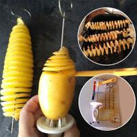 Edelstahl Kartoffel Spiralschneider Kartoffelschneider Tornado Gemüse Obst Neu