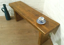 X-Wide 5ft Rustic Reclaimed Solid Pine Vintage Dining Plank Table Chair BENCH