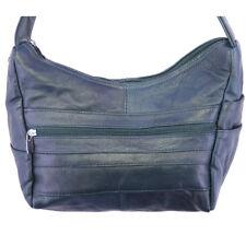 Genuine Leather  Cross Body Shoulder Messenger Handbag Navy
