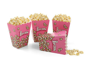 Pink Popcorn Cones Foldable Pack Of Childrens Cup Holder Boxes Movie Film Party