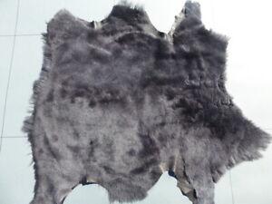 Lambskin sheepskin sheep leather hide skin Blue Grey Dolphin natural finish  2oz