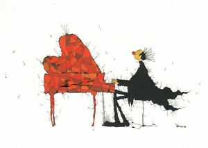 Postkarte: Michael Ferner - Am Flügel oder Die Farben der Musilk