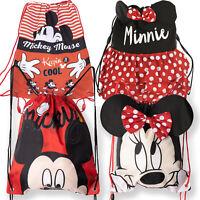 Disney Minnie Mickey Mouse Characters Kids Drawstring Swimming Gym PE School Bag
