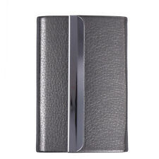 PU Leather Metal Slim Pocket Box Case Pro Business ID Credit Card Wallet Holder