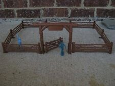 Marx Western Ranch Fence Arch Gate Farm Cowboys 1/32 54MM Playset Toy