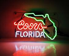 TN146 Coors Light FLORIDA Lite Beer Wall Display Beer Neon Light Sign LED 14x9