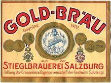 1900s AUSTRIA Stieglbrauerei Gold Brau Beer Stephens Collection Tavern Trove