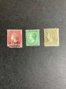 St Vincent 1883-97 Scott 40, 42 (Used), 41 (MH) (S28)
