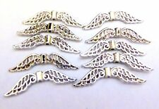 20 platinum plated Guardian Angel Fairy 32mm Wings Beads Jewellery Making crafts