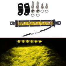 7'' Yellow 6X5W Chip LED Work Fog Light Bar Spot SUV Boat Driving Lamp Offroad