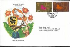 HONG KONG 1978 FIRST DAY COVER HORSE AND CHINESES CHARACTER
