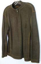 TOMMY BAHAMA JEANS BROWN FRONT ZIP MEN'S LONG SLEEVES SWEATER SHIRT SZ L