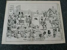 """Scenes At The Uganda Exhibition of 1900"" Original Print From Punch 1895 §PP4"