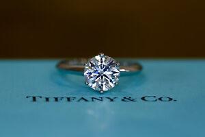 Tiffany & co engagement Ring platinum Diamond 1.02 Ct I Vvs2 £13900 Retail