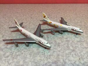 Herpa wing 1/500 JAL Boeing 747-200 Super Resort Express (purple & yellow) pair