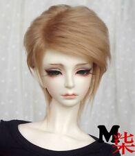 """6-7"""" 16-17cm BJD fabric fur wig Flaxen Golden hair for 1/6 BJD YOSD DZ-BB AF-BB"""