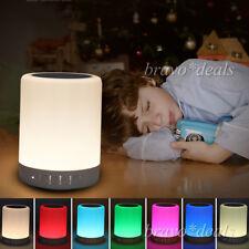Bluetooth Lautsprecher LED Touch Lampe Mit RGB Nachttischlampe SD Musik Player