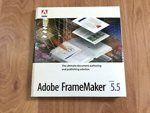 Adobe FrameMaker 5.5 For Windows and Mac with serial number