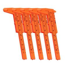 5xPied à Coulisse Calibre Vernier 80mm en Plastique Orange Outil de Scolaire