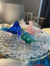 More details for murano seguso alabastro glass bird paperweight glass dove plus 2 others (nasco)