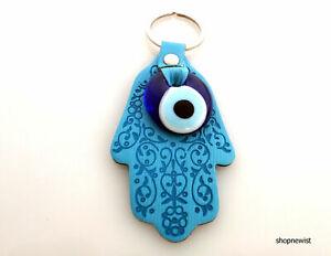 Evil Eye Hamsa Hand key chain or wall hanging