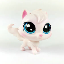 LITTLEST PET SHOP LPS VIOLA ANGORA 1-98 SERIES 1 Pink WHITE CAT Kitten Figure